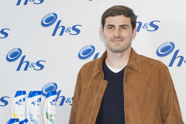 Iker Casillas durante la presentación de su campaña con H&S.